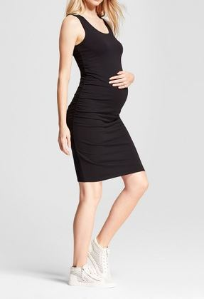 Maternity Shirred Tank Dress