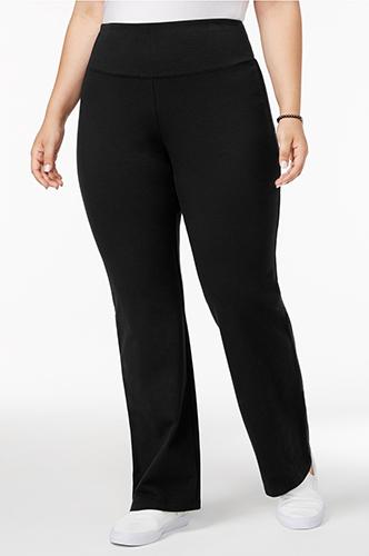 Style & Co Plus Size Tummy-Control Bootcut Yoga Pants