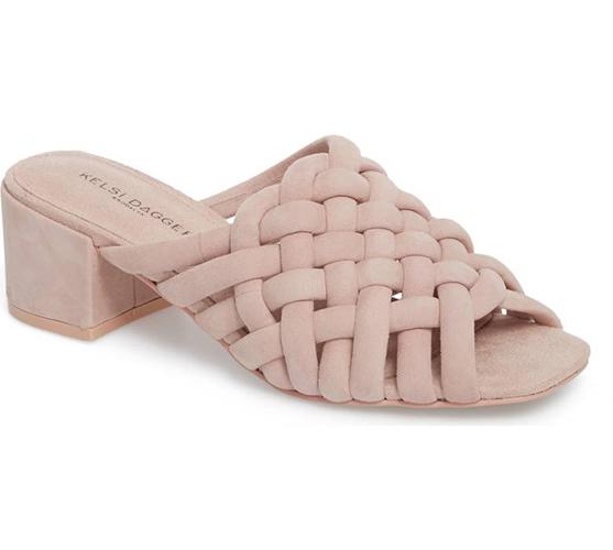 Sky Dress Woven Mule Sandal