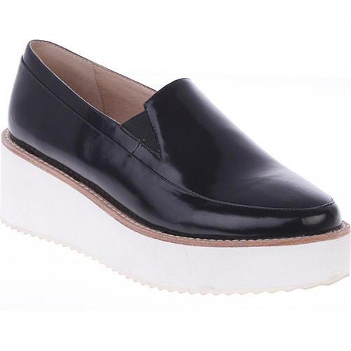 Leather Platform Loafers