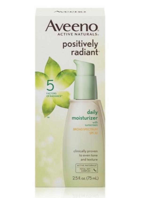 aveeno positively radiant spf moisturizer