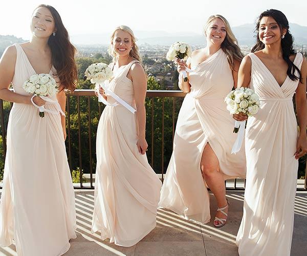 bridesmaids in line