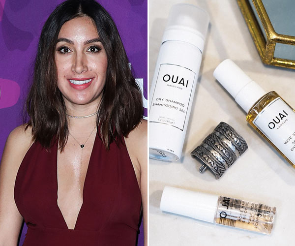 jen atkin with ouai haircare products