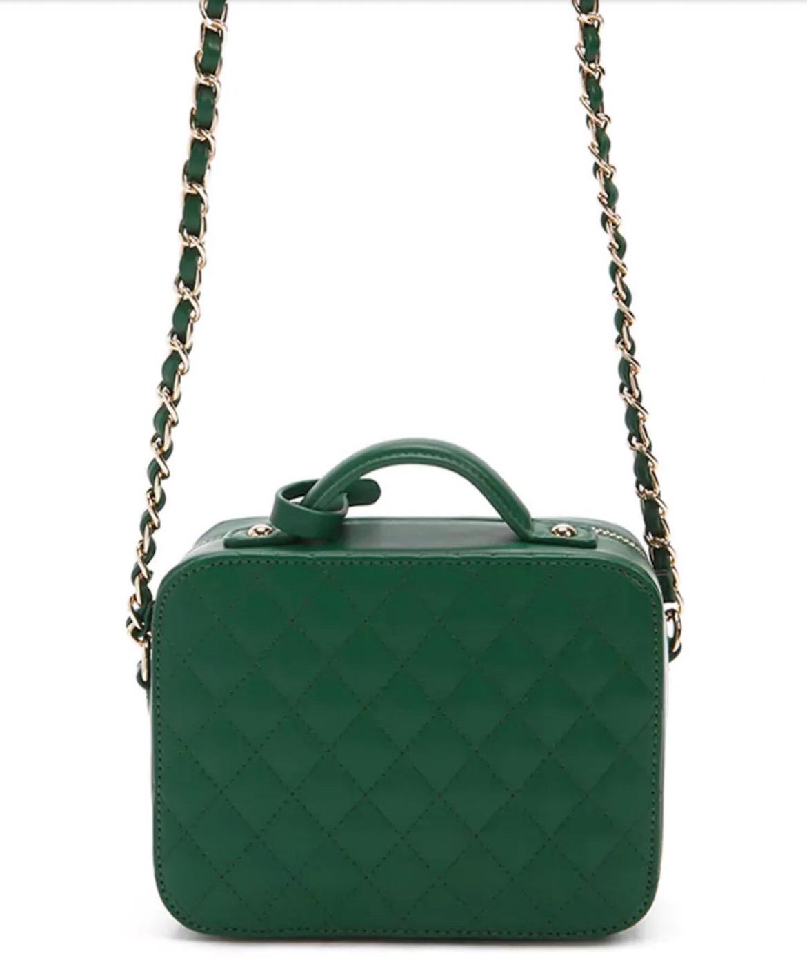 forever 21 green crossbody bag