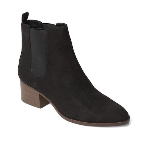 gap black suede chelsea boots