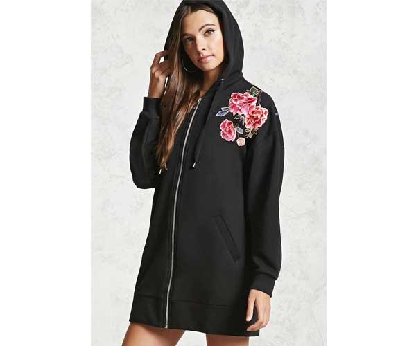 forever 21 floral hoodie