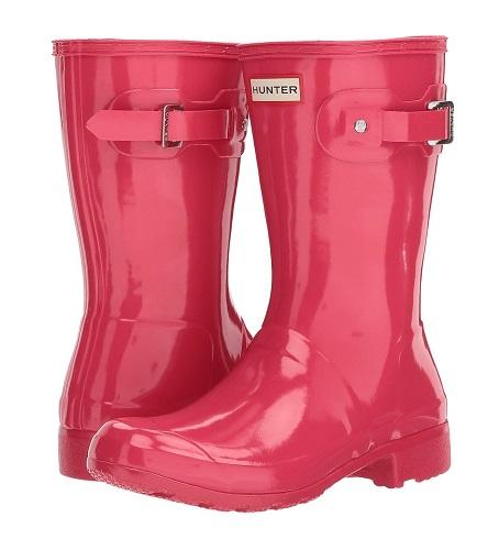 pink hunter rain boots