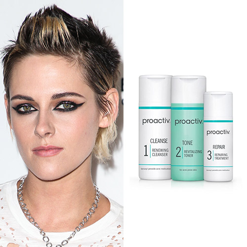 kristen stewart proactiv 3-step treatment