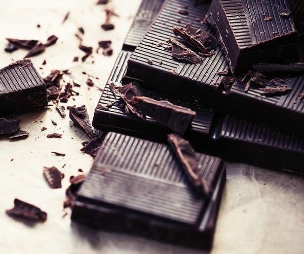 dark chocolate bars on a table