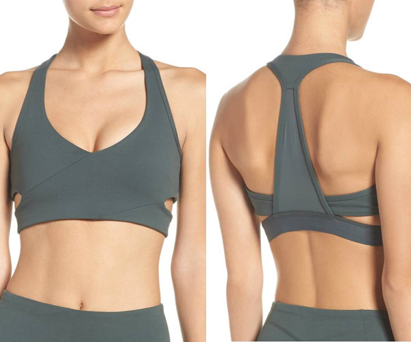 zella grey sports bra