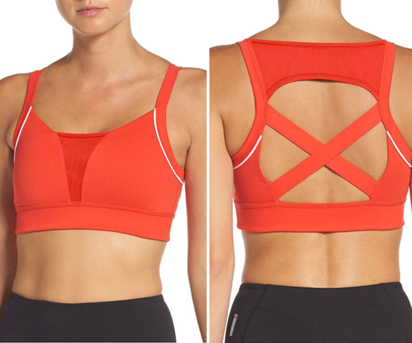 zella red sports bra