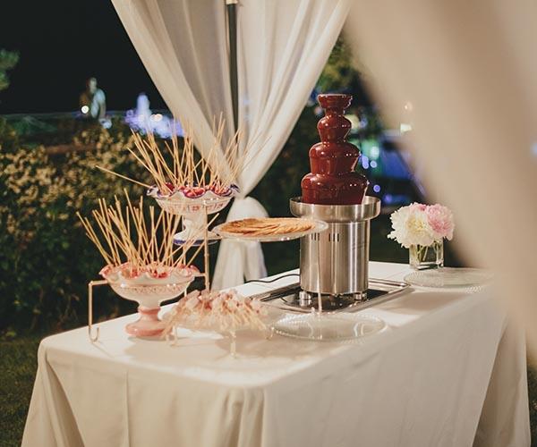wedding food station buffet