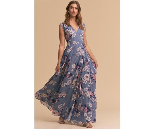 bhldn floral bridesmaid dress