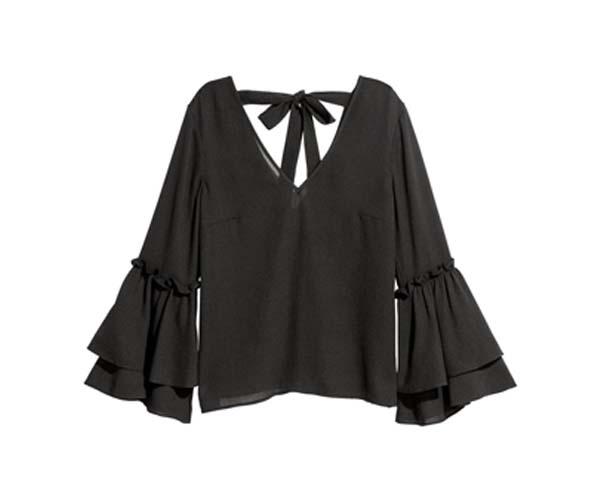 hm black flounced top