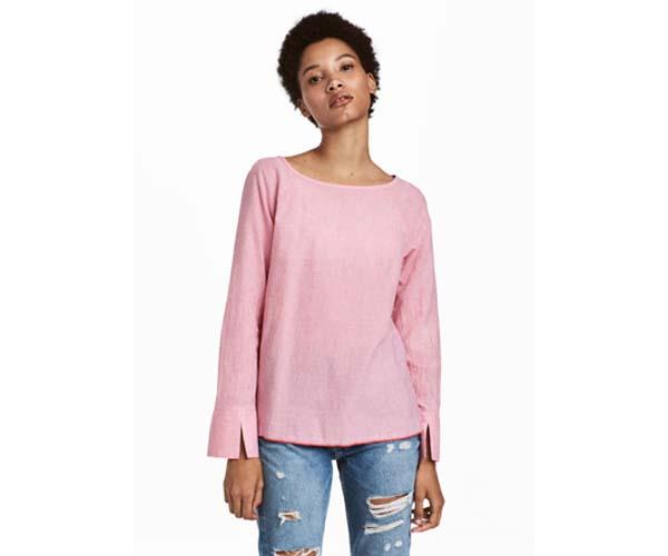 h&m cotton blouse