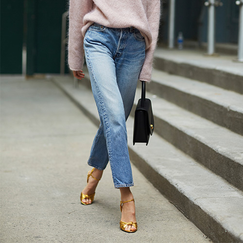 Image result for cropped jeans 2018 street style