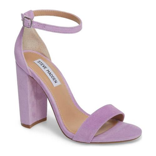 purple steve madden block heel