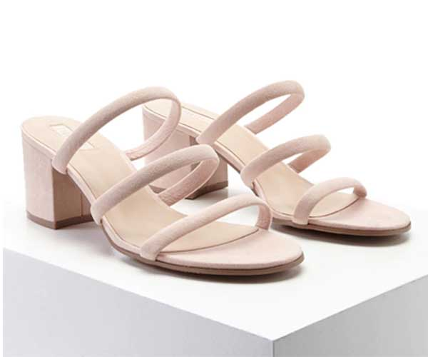 beige strappy mule sandals