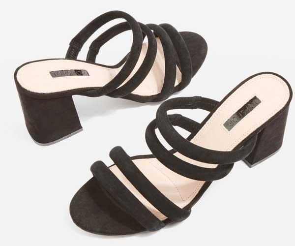 topshop black mule sandal