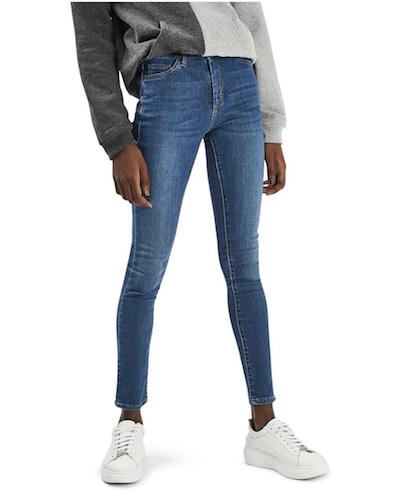 nordstrom blue skinny jeans
