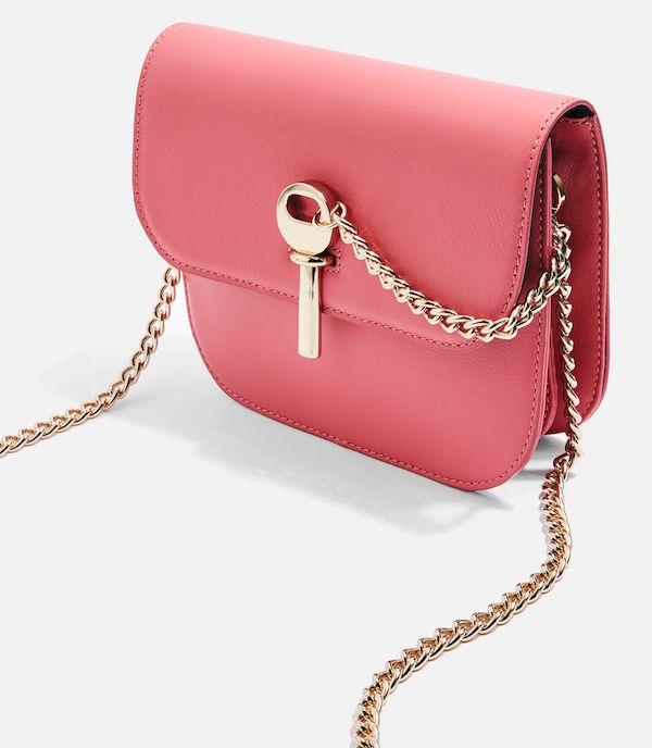 topshop pink crossbody bag gold strap