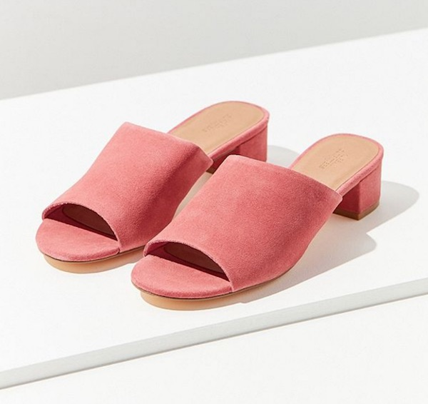 urban outfitters pink mule sandals