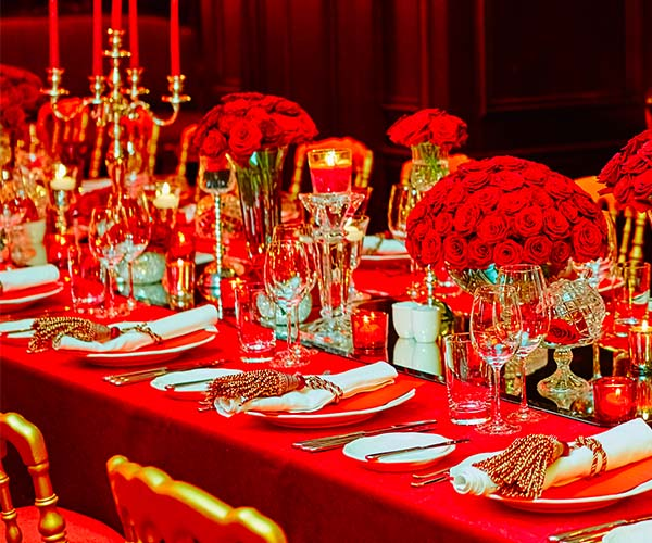 All red decor