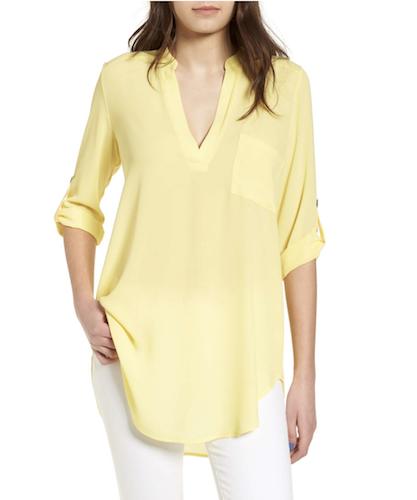 lush yellow tunic