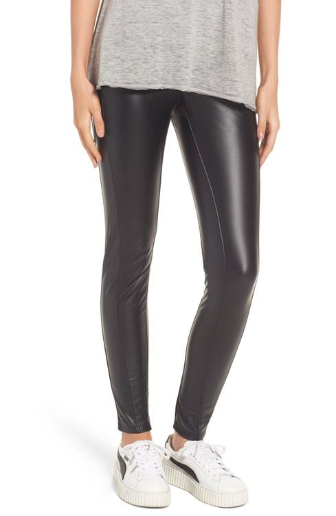 Bryce High Waist Faux Leather Leggings