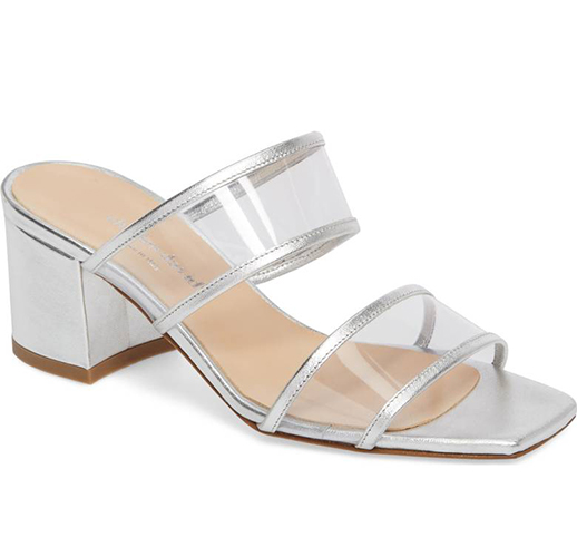clear silver sandal