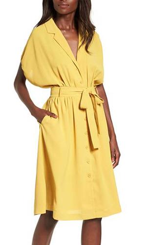 Chriselle x J.O.A. Cocoon Sleeve Dress