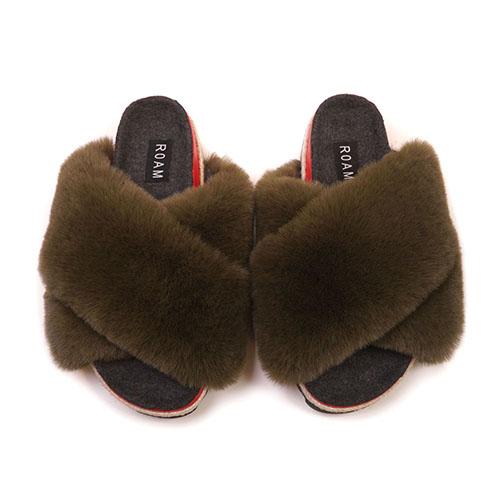 Khaki Cloud Sandals