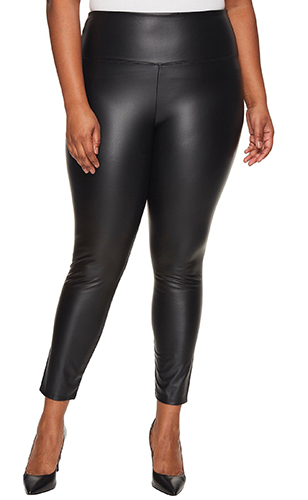 Plus Size Vegan Leather Leggings