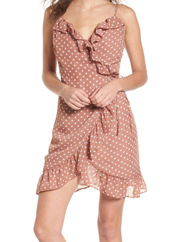 pink polka dot dress BP.
