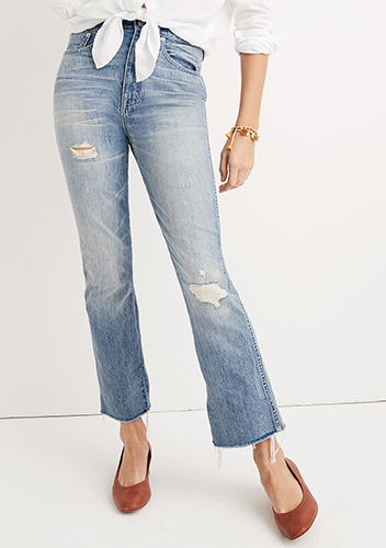 Rigid Demi-Boot Crop Jeans