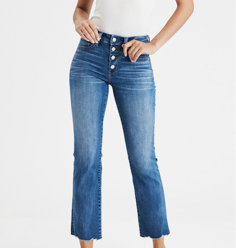 american eagle cropped denim