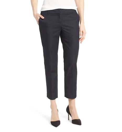 denim crop work trousers