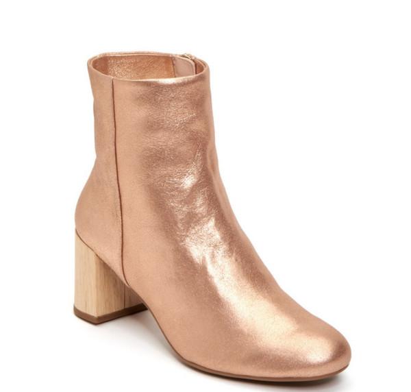 rose gold booties