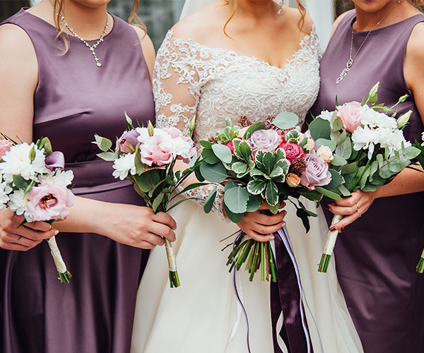 Bride and bridal party