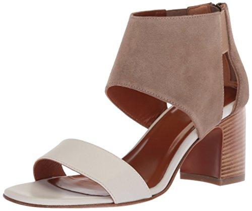 aquatalia enid calf/suede combo heeled sandal