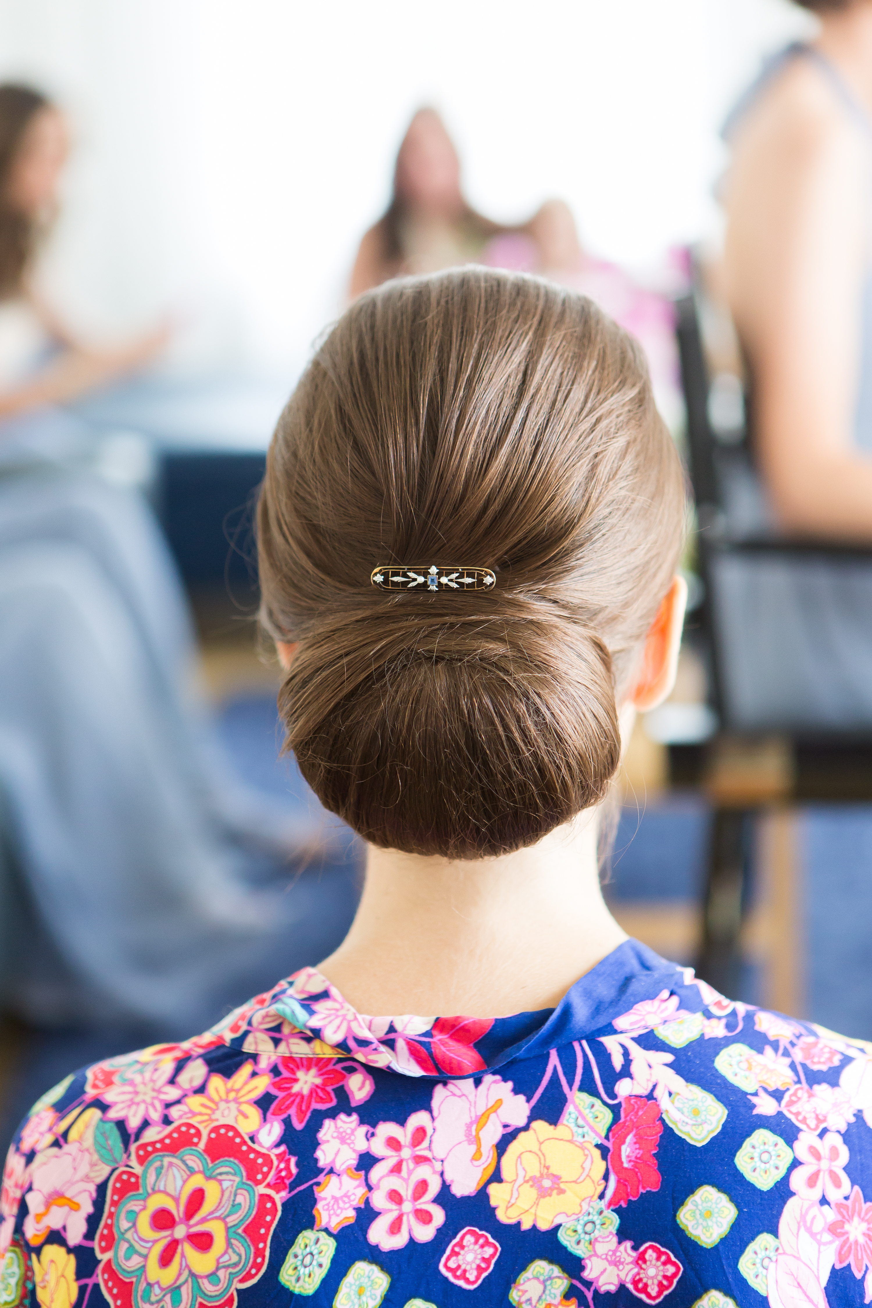 woman with chignon hair