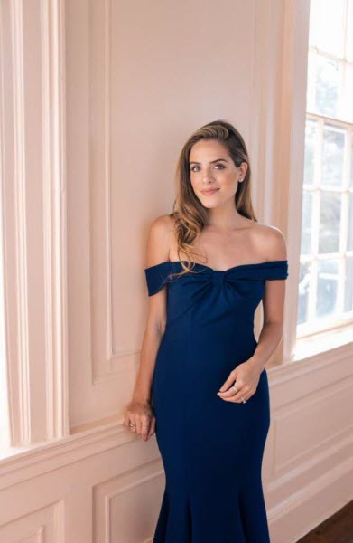 gal meets glam navy off the shoulder dress