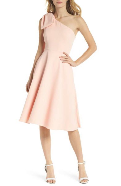 gal meets glam one shoulder pink dress