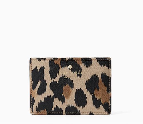 kate spade leopard card case
