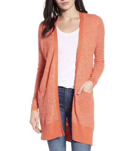 nordstrom orange cardigan