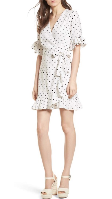 nordstrom white polka dot dress