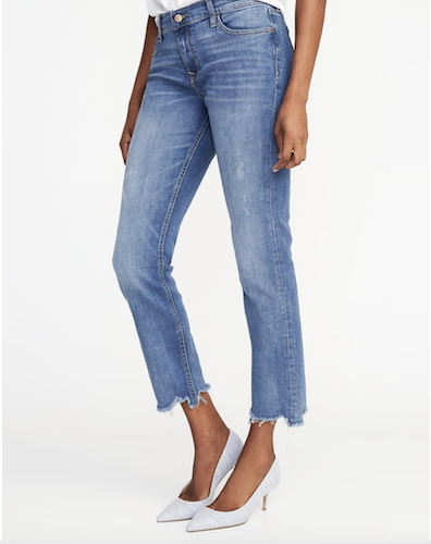 old navy cropped denim