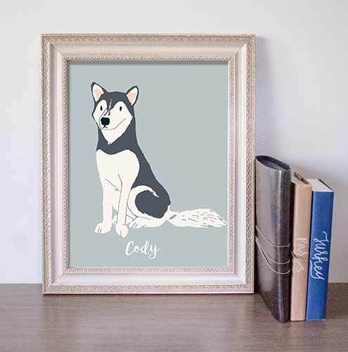 dog drawing, Mother's Day