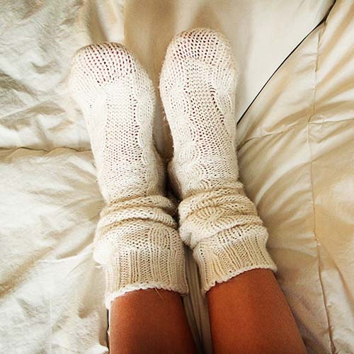 socks in bed