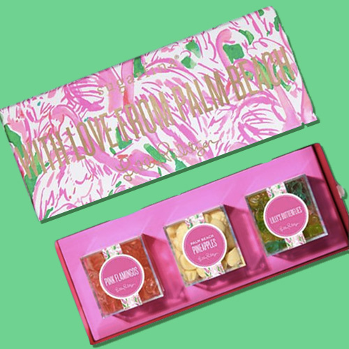 43ba4f009e2157 April 2018: Lilly Pulitzer and Sugarfina have launched three new bento  boxes together: Lilly's Butterflies, Palm Beach Pineapples, and Pink  Flamingos.